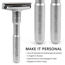 Adjustable Safety Razor Qshave Mens Shaving Double Edge Classic Safety Razor Blade Exposure Six Levels 1 handle & 5 blades