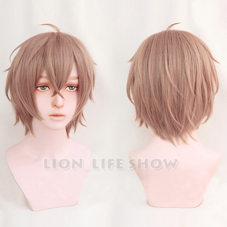 100% Quality Hypnosis Mic Division Rap Battle Gentaro Yumeno Cosplay Wig Blonde Short Synthetic Hair + Wig Cap For Sale