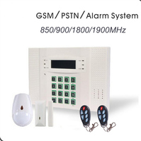 Good Quality LCD Display LED Backligh GSM PSTN Wireless Home Office Alarm Security Systems With Pet