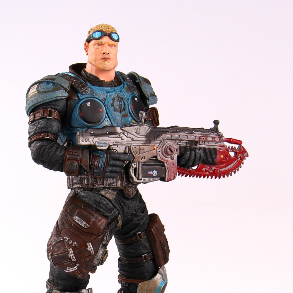 NECA GEARS OF WAR Baird Action Figures Boys Hobby Toys Games Collectable Figures Are майка классическая printio gears of war 2