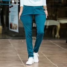 Mens אופנה למתוח Slim שמלה מזדמן צ ינו מכנסיים עסקי מכנסיים אדום שחור כחול חאקי 28 29 30 31 32 33 34 36 38