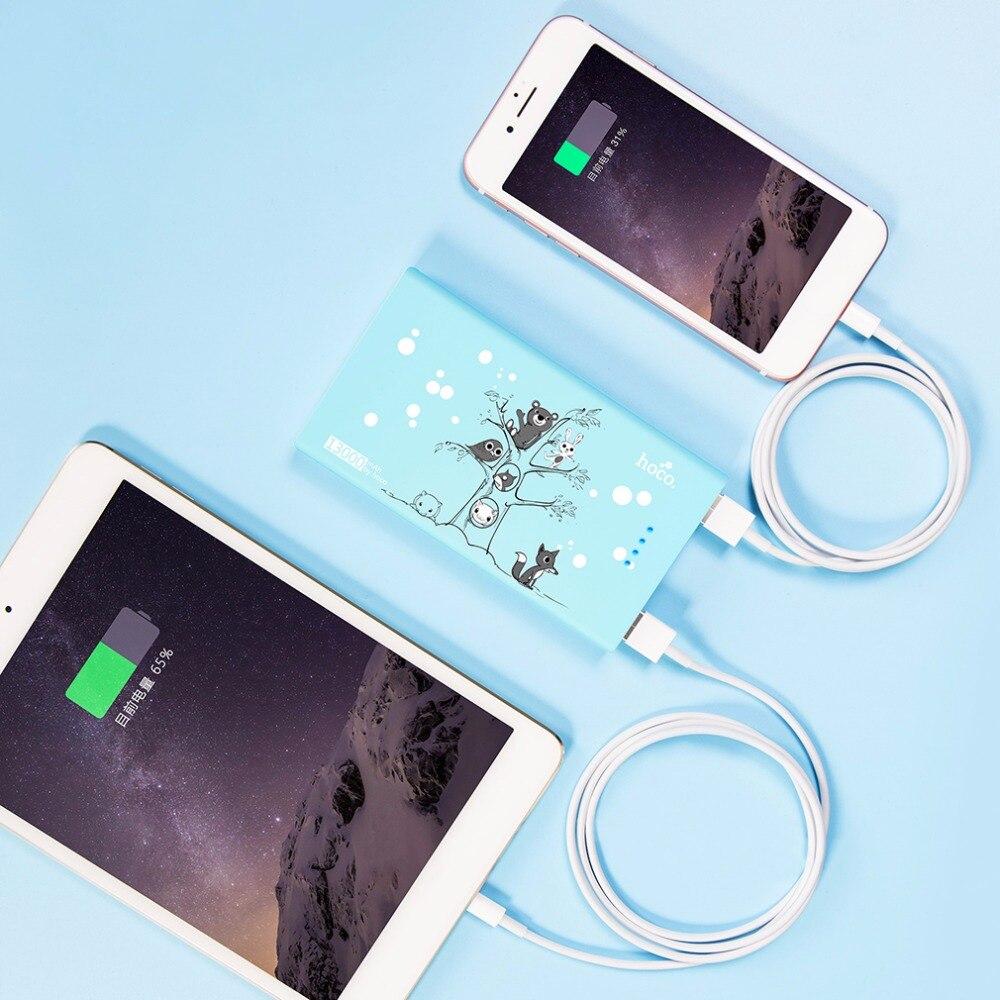 imágenes para Original HOCO 3 Colores Lindo 13000 mAh Banco de la Energía de Galletas Encantadora Ratón Batería de Copia de seguridad Cargador Para Todos Los Teléfonos Móviles Premium regalo