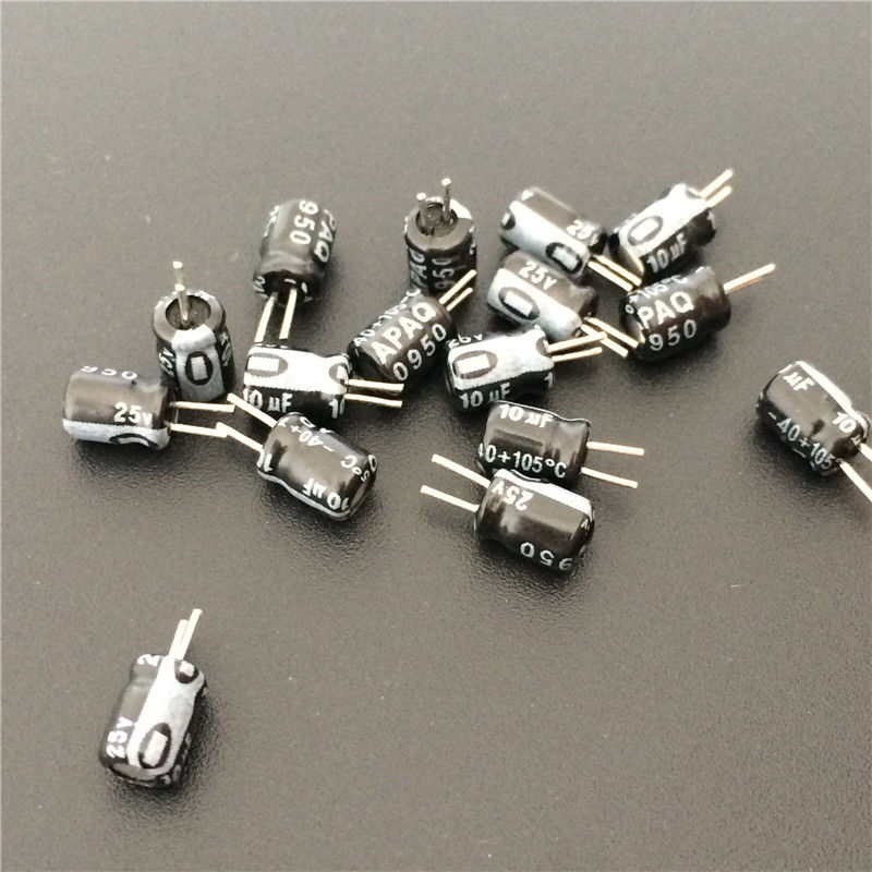 20pcs 10uF 25V 4x5mm APAQ 25V10uF Aluminum Electrolytic Capacitor