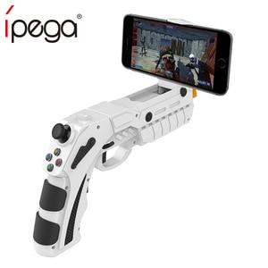 Image 1 - IPega Bluetooth spust pistoletu Joystick dla systemu Android iPhone telefon komórkowy kontroler Gamepad pad do grania do gier telefon komórkowy
