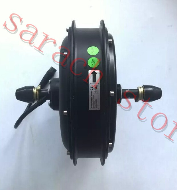High Quality 48V 500W brushless non-gear hub motor,Electric bicycle rear wheel motor electric motorcycle 60v1000w brushless non gear hub motor 225 55 8 tire vacuum tire for electric bicycle wheel motor