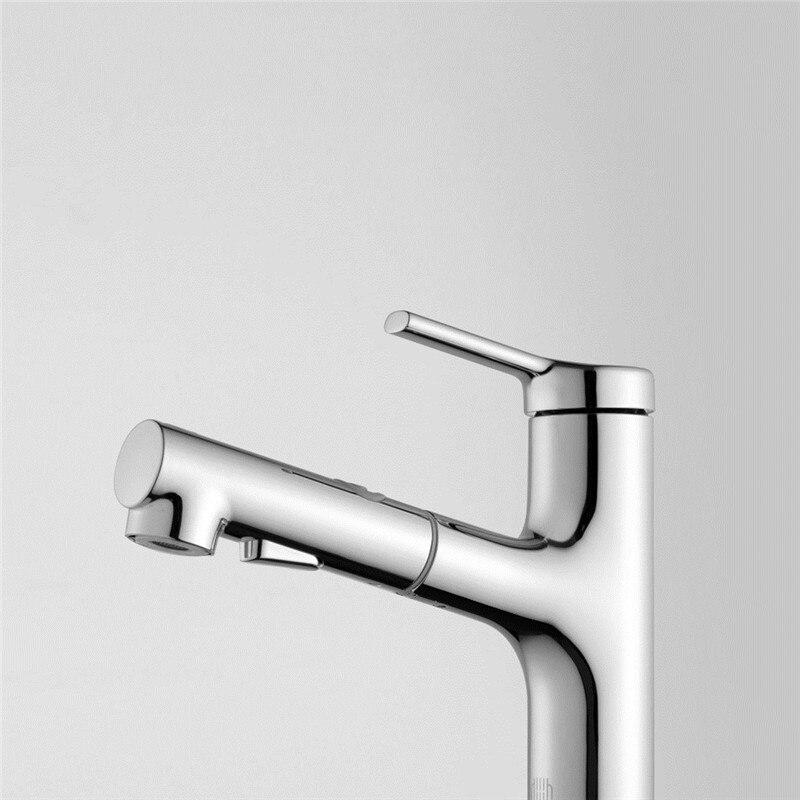 Xiaomi DABAI Bacia Banheiro Torneira Da Pia Pull Out Pulverizador Rinser Gargarejo Escovar 2 Modo Tap Cold & Hot Mixer Xiaomi torneira de Água - 4