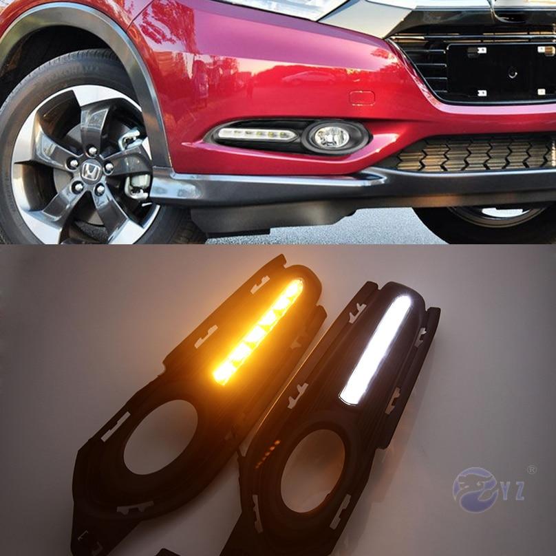 Car Flashing DRL For Honda HR V HRV Vezel 2014 2015 2016 2017 2018 Daytime Running