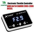 Автомобильный электронный контроллер дроссельной заслонки  гоночный ускоритель  мощный усилитель для AUDI A4 CABRIO 2003-2006  запчасти для дизельно...