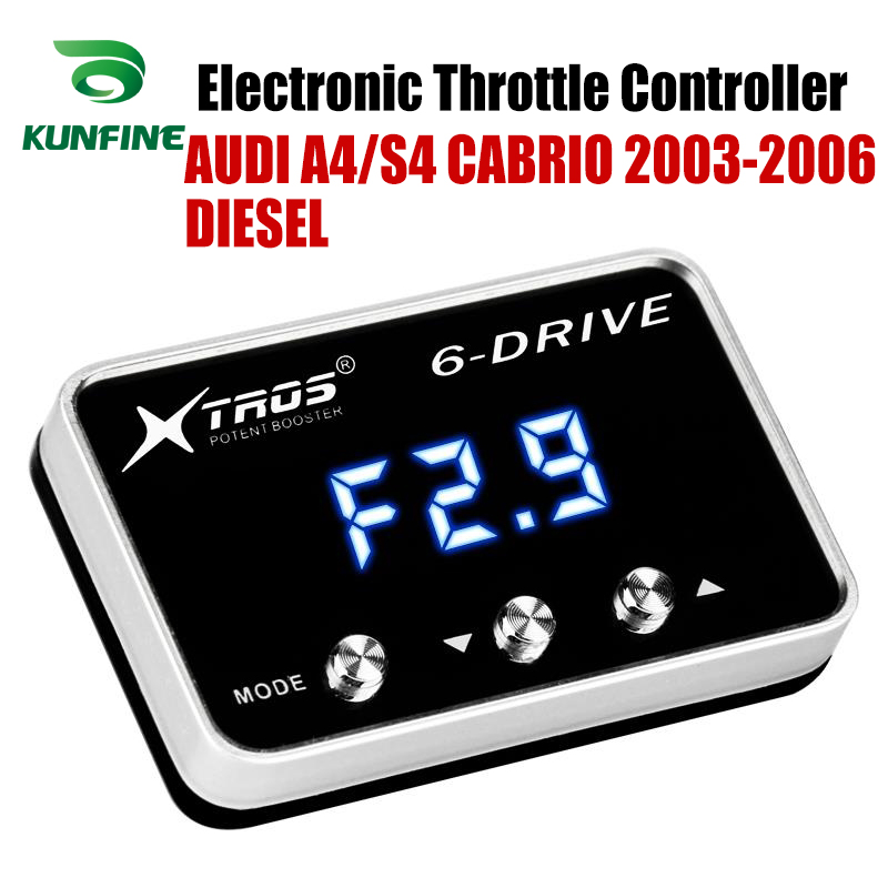 Car Electronic Throttle Controller Racing Accelerator Potent Booster For AUDI A4 CABRIO 2003 2006 DIESEL Tuning Parts Accessory|Car Electronic Throttle Controller| |  - title=