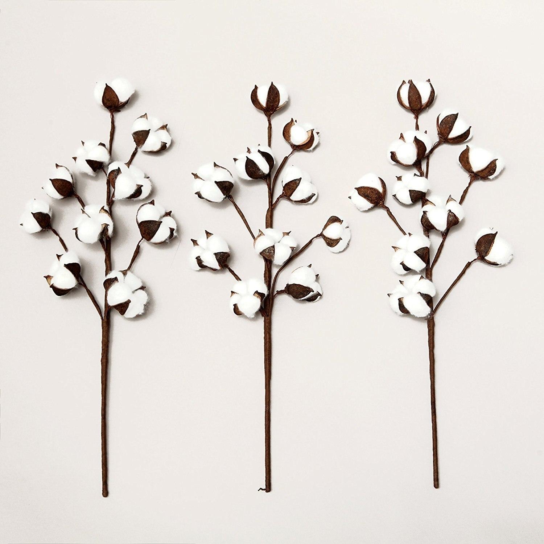 3PCS/LOT artificial cotton flower single branch 10 petals 52cm ...