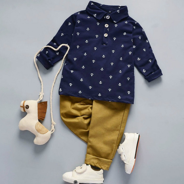 Boys Clothing Set 2018 Autumn Winter Boys Clothes 2pcs Outfit Kids Clothes Sport Suit For 1-5 Year