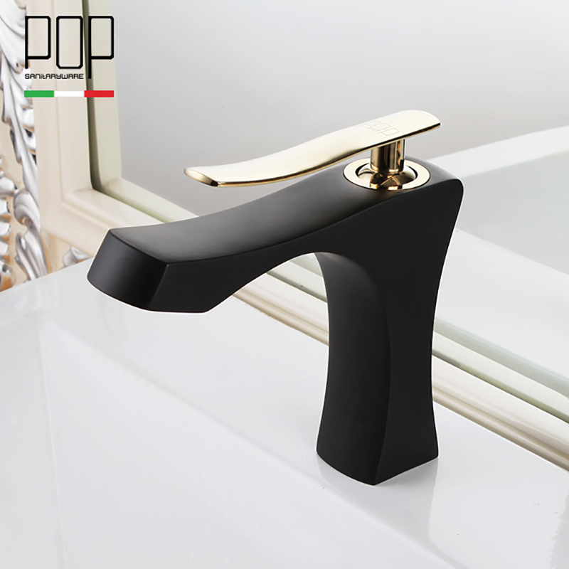 POP Bathroom vanity Faucet , New design High quality Single Handle Lever Basin Faucets Hot and Cold Basin mixer Tap
