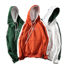 2018 Autumn Winter White Hoodies Men Sweatshirts Hooded Casual male/Women Street wear Hip Hop Fashion Long Sleeve Warm Pullover