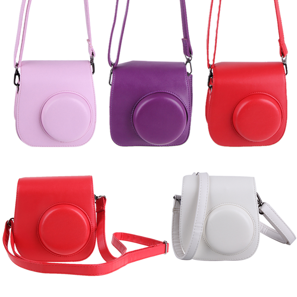 Retro Classic Pu Leather Camera Handbag For Polaroid Photo Bag Case Cover Pouch Protector Fujifilm Instax Mini 8