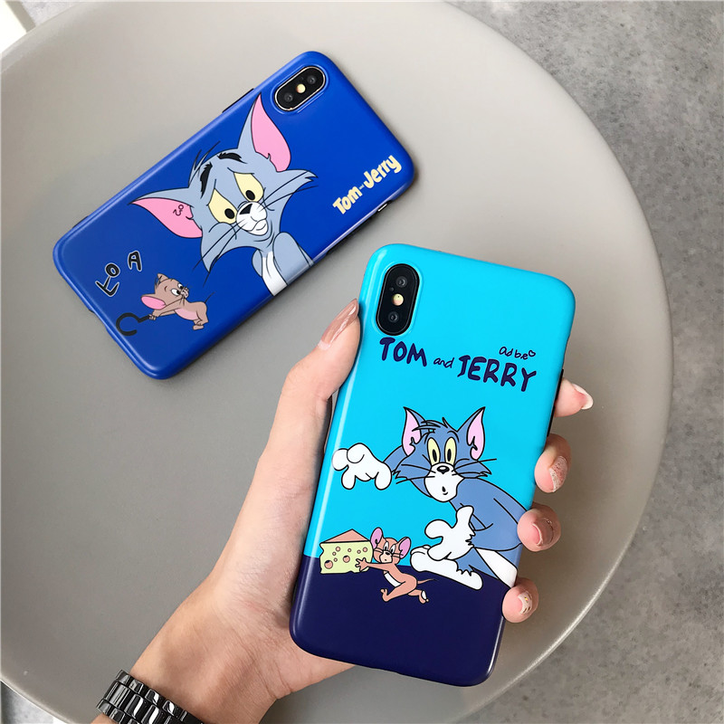 100pcs Funny Cartoon Tom Jerry Case for iPhone X XR Xs Max 8 7 6 6s Plus Case Slim Fit Soft Silicone IMD Cover Cases Cover Coque100pcs Funny Cartoon Tom Jerry Case for iPhone X XR Xs Max 8 7 6 6s Plus Case Slim Fit Soft Silicone IMD Cover Cases Cover Coque