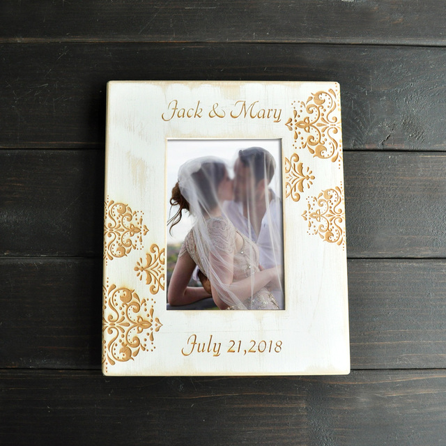 Custom Wedding Photo Frame, Personalized Pictures Frames, Wooden ...