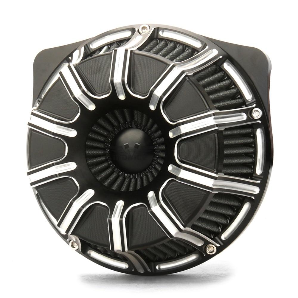 Breakout 10-medidor de purificadores de ar para Harley 2018-2019, filtros de ar FLTRX FLHR FLHX FLHTCU 17-19 entradas de ar PRETO