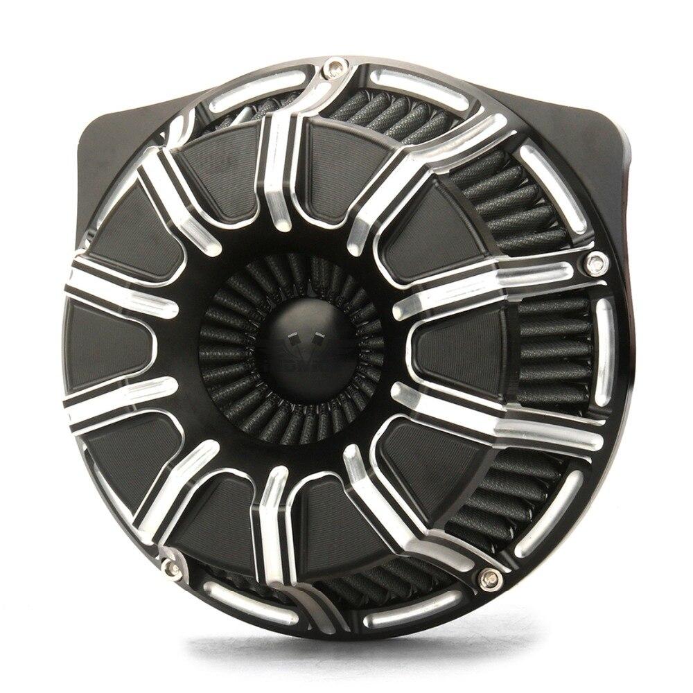 Medidor de fuga de purificadores de ar para Harley 2018-2019, filtros de ar FLTRX FLHR FLHX FLHTCU 17-19 entradas de ar PRETO