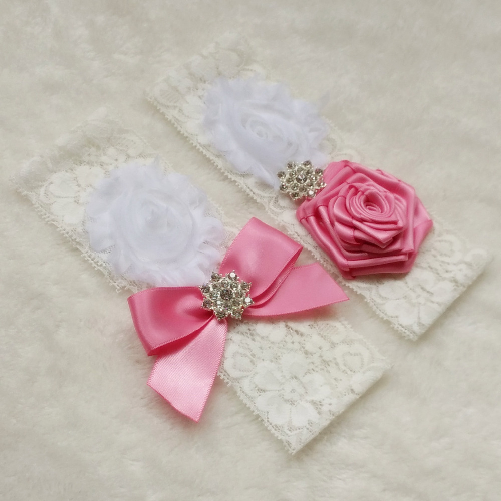 Merah muda Perak warna Champagne Bridal Garter Garters Set Vintage  Pernikahan Crystal Berlian Imitasi pada Renda 210e73f139