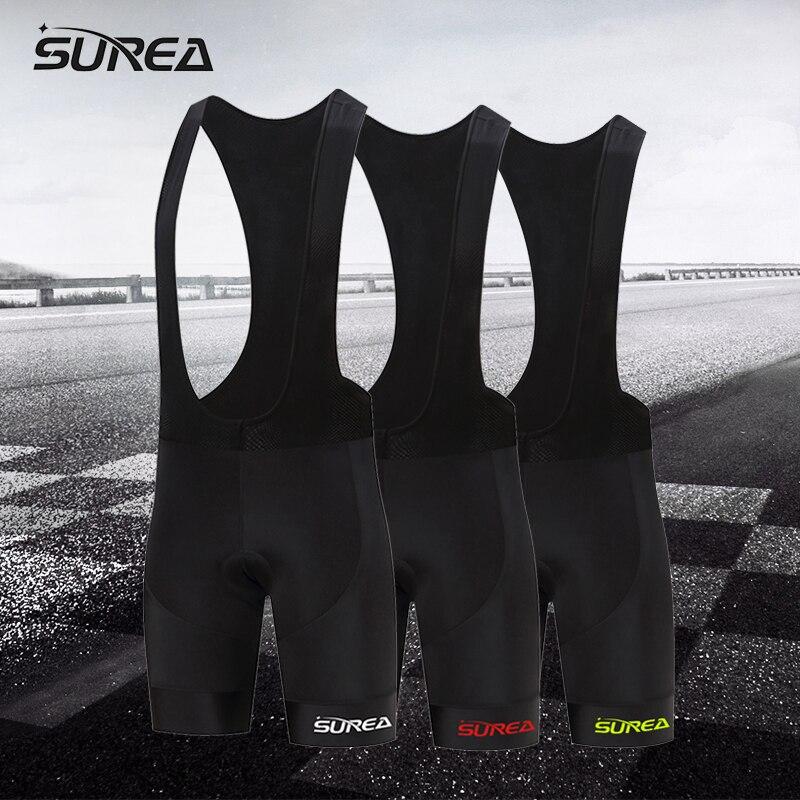 SUREA New 2017 multi-color logo elástico transpirable MTB bicicleta ciclismo apretado cómodo bicicleta pantalones cortos Hombre