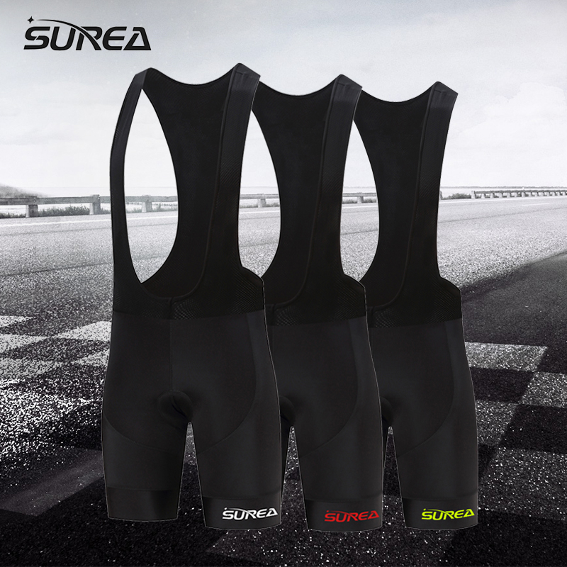 SUREA New 2017 multi-color logo elastic breathable MTB bike cycling tight comfortable bicycle shorts man