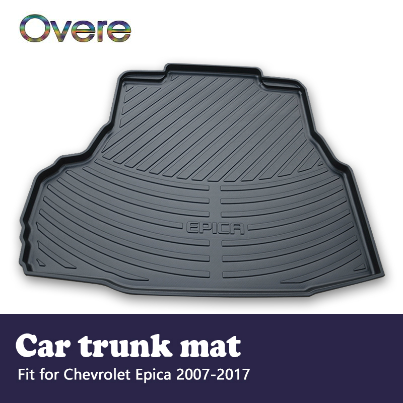 Overe 1Set Car Cargo rear trunk mat For Chevrolet Epica 2007 2008 2009 2010 2011 2012 2013 2014 2015 2016 2017 Liner Accessories free shipping luxury pu leather car trunk mat cargo mat for chevrolet malibu holden 2016 9th generation