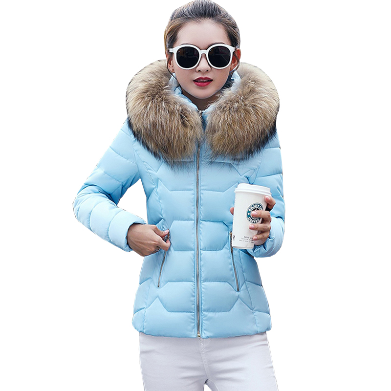high quality fur collar parka cotton jacket Winter Jacket Women thick Snow Wear Coat Lady Clothing Female Jackets Parkas 5L15 snow wear 2017 high quality winter women jacket cotton coats fur collar hooded parkas fashion long thick femme outwear cm1346
