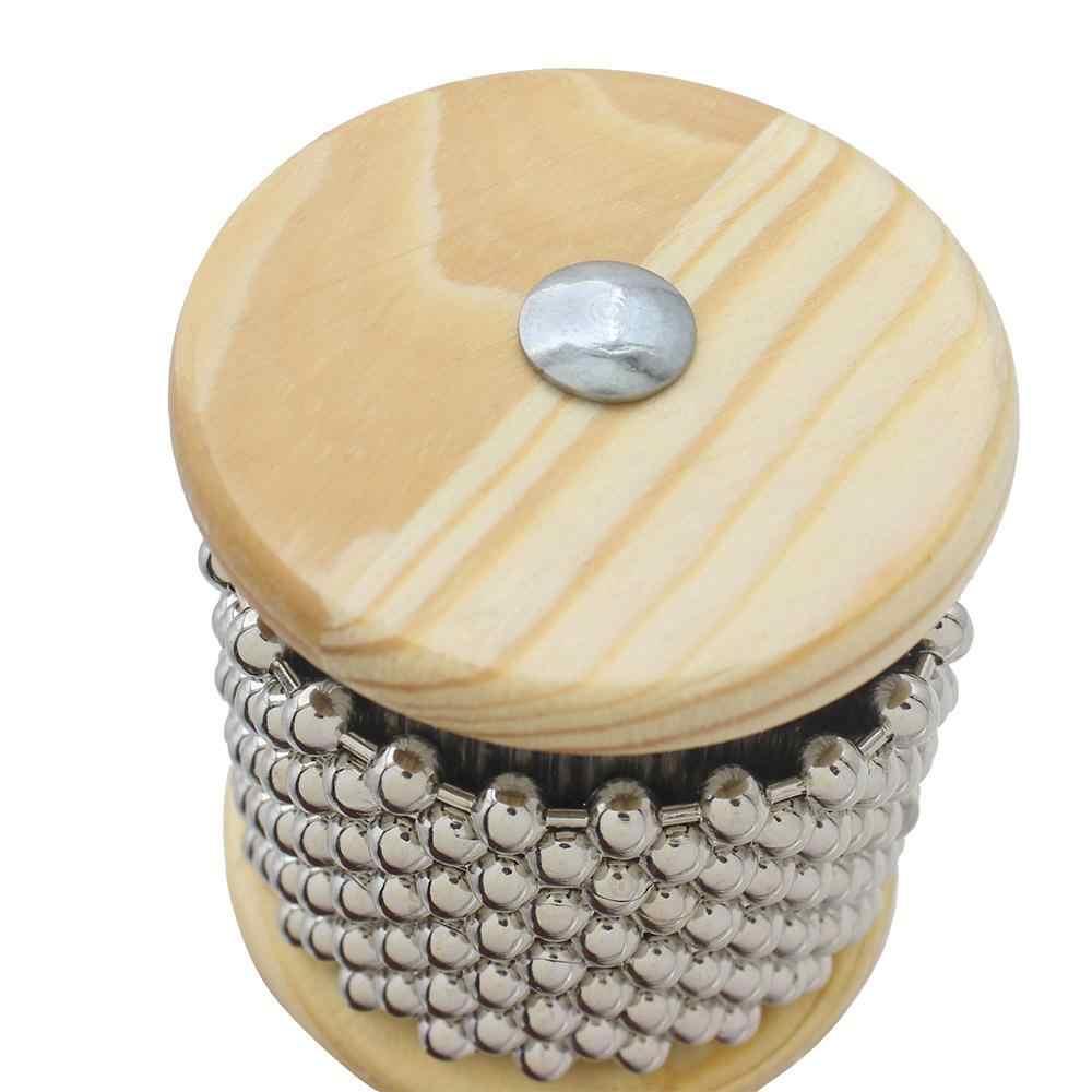 Dragonpad ไม้ Cabasa ลูกปัดโลหะกระทบวงดนตรีนักเรียนเด็ก Orff เครื่องดนตรีมือ Shaker กระบอก