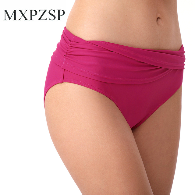 b35416f7381 Sexy Women Bikini Swim Trunks Short Summer Swim Brazilian Cheeky Fold Cut  Out Thong Bottom Beach