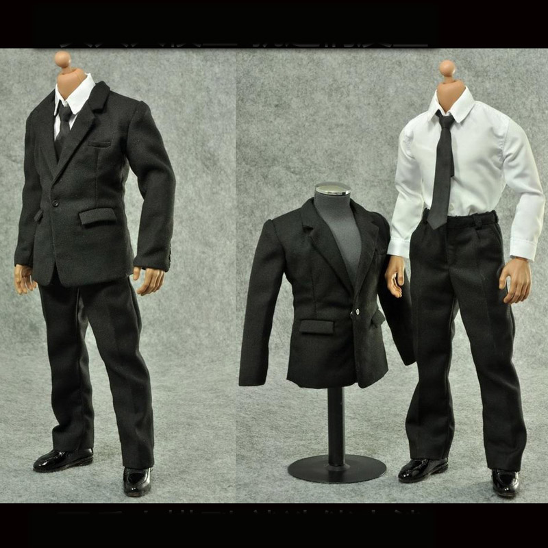 Здесь продается  Luckytoy 1/6 Solider Clothing Black Suit Accessories Fit for B001 Narrow Shoulder Male Body L50  Игрушки и Хобби