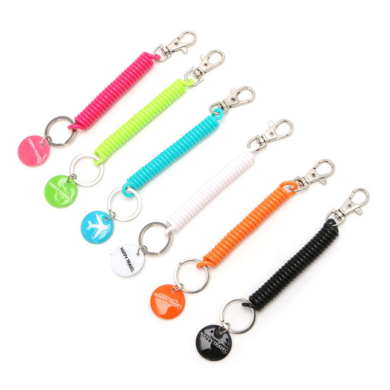Travel Accessory Key Chain Anti Lost Wallet Phone Strap Key Ring Holder Strap Wallet Passport Bag Anti-theft Rope Solid