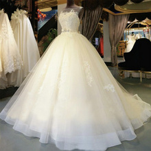 Fansmile High Quality Vintage Lace Up Wedding Dress 2020 Long Train Vestido de Novia Customized Plus Size Wedding Gowns FSM 006T