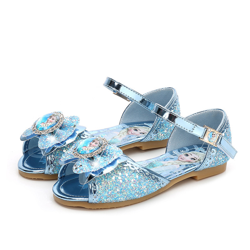 Summer Wedding Party Wear Fancy Cinderella Shoes Halloween Cosplay Crystal Princess Anna Elsa Shoes Stage Dance Sandals