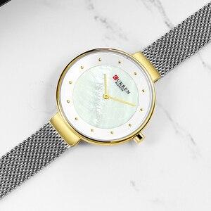 Image 3 - Creative Dialนาฬิกาผู้หญิงนาฬิกาควอตซ์CURRENเหล็กตาข่ายนาฬิกาข้อมือสุภาพสตรีสร้อยข้อมือนาฬิกาผู้หญิงBayan Kol Saati
