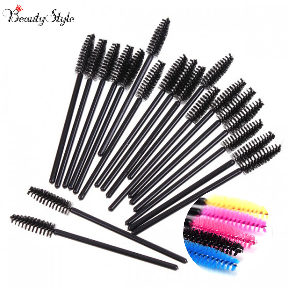 50pcs one off disposable eyelash brush mascara applicator for Mascara with comb wand