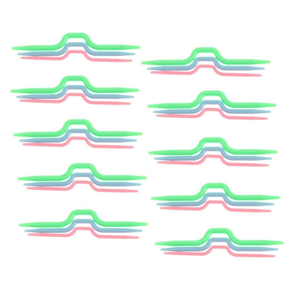 ③30 unids (10 bolsas) color mezclado plástico ABS Stitch pasacables ...