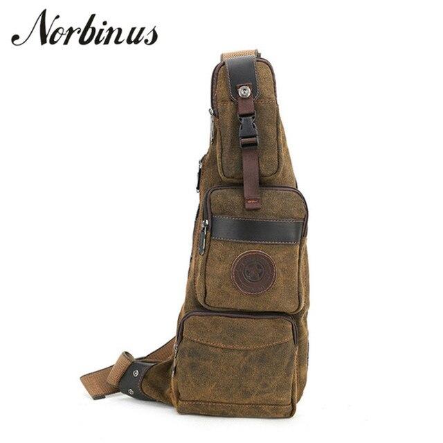 52da25dc38 Norbinus Men Canvas Sling Bag Chest Bag Male Shoulder Crossbody Bag Water  Bottle Rucksack Riding Travel. Mouse over to zoom in