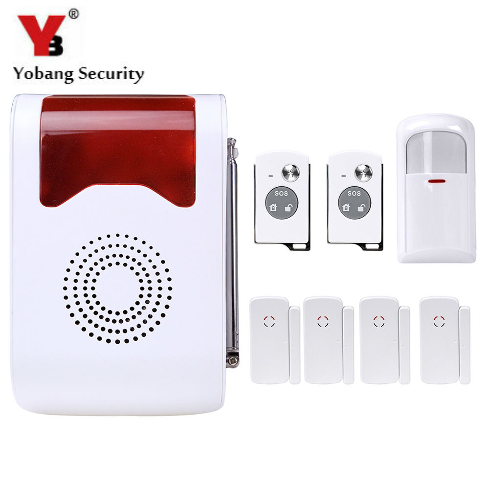 YobangSecurity Voice Alarm System 99 Wireless Zones Remote control with Pir Door Detector Anti-thief for Home Security wireless smoke fire detector for wireless for touch keypad panel wifi gsm home security burglar voice alarm system