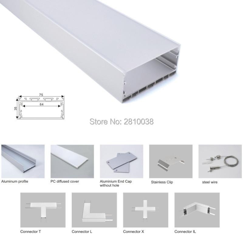canal de aluminio para pingente ou conjuntos 10x1 m lot prata 03