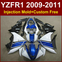 Motorcycle blue white body parts for YAMAHA fairings YZFR1 2009 2010 2011 YZFR1 09 10 11 12 R1 bodyworks YZF1000 R1 +7Gifts