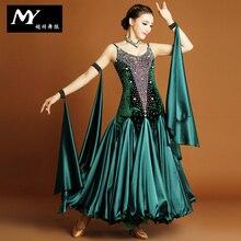 2017 Led Costume Costume Highest Grade !!2017 Ballroom Dance Dress Woman Modern Waltz Tango Dress/standard Competition My723