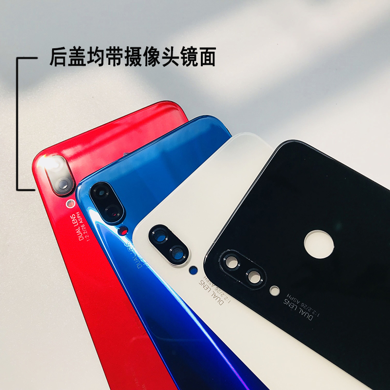 Original for Huawei Nova 3i 3D Glass Battery Back Cover Rear Cover Housing Door for Huawei P Smart Plus Back Cover Repair Parts