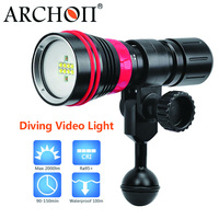 Archon waterproof 100m diving light Max 2000 Lumen diving lighting White/red LED Scuba Diving Underwater Photography Video Light