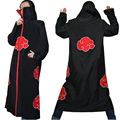 naruto cosplay costume Naruto Akatsuki Uchiha Itachi Cosplay Cloak Hooded Plus Size 2XL