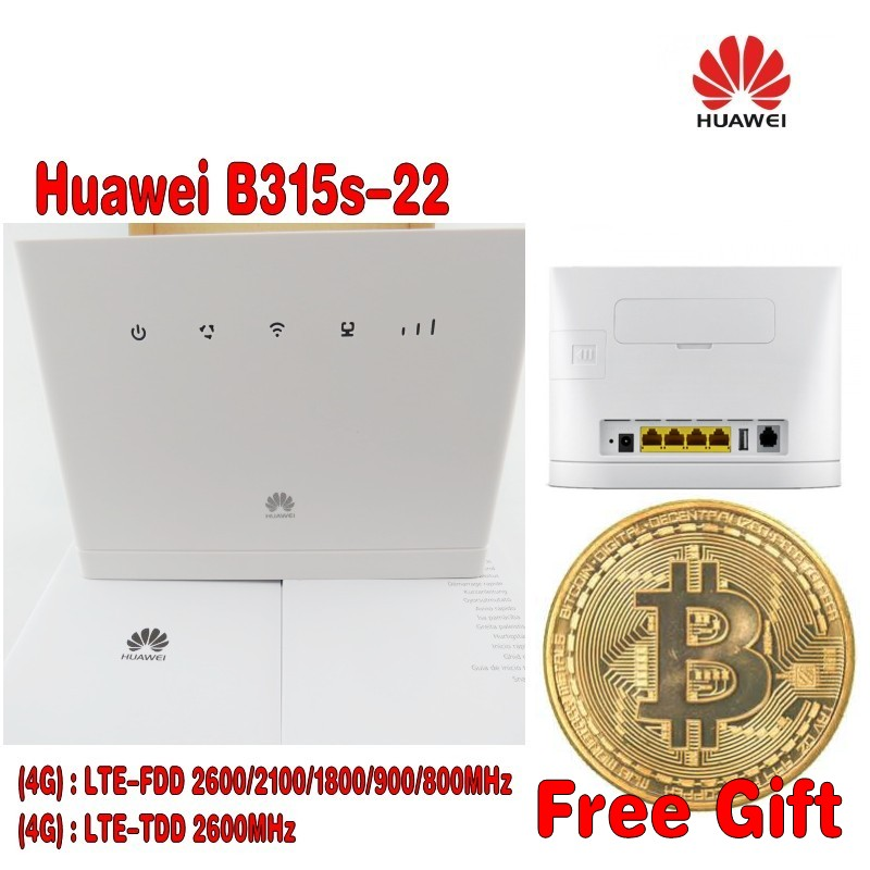 HUAWEI B315s-22 4G LTE 150Mbps FDD TDD Wireless CPE Router Unlocked + Free Gift+2pcs 4g B315 antenna 2pcs b315 antenna huawei unlocked b315 4g 3g b315s 607 mobile 4g wifi router 4g wifi dongle cpe hotspot voip cpe router