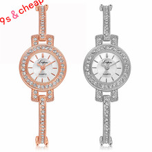 Fashion Ladies Women Stainless Steel Rhinestone Quartz Wrist Watch 3345 Brand New High Quality Luxury Free