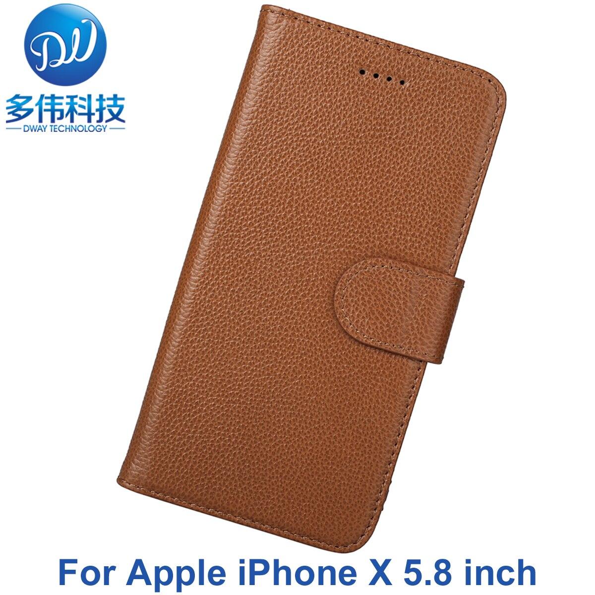 Für iPhone 10 Abdeckung Luxus New Business-echtes Litschi Muster Flip brieftasche Leder Telefon Fall Für Apple iPhone X Capa Mit Stand