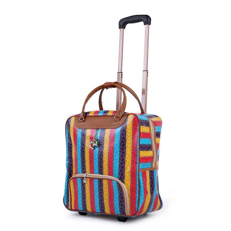 Новый популярный модный женский чехол на колесиках, брендовый Повседневный чехол на колесиках, сумка для путешествий на колесиках, Чехол для багажа