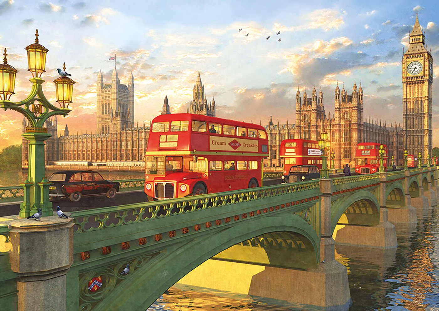 Jigsaw puzzle London's Westminster Bridge 2000 Pieces Spain Imported Puzzle Renoir-in Puzzles from Toys & Hobbies    1