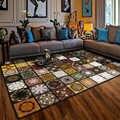 Vintage clásico gran área alfombras casa decoración alfombras para habitación antideslizante Mat geométrica 3D impreso Plaza Tapetes Tapis salon